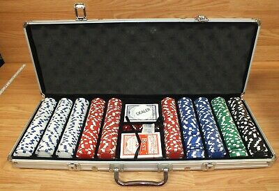 Clay Poker Chips Texas Hold Em' Set With Best Club Special No. 9 Playing (Best Clay Poker Chips)