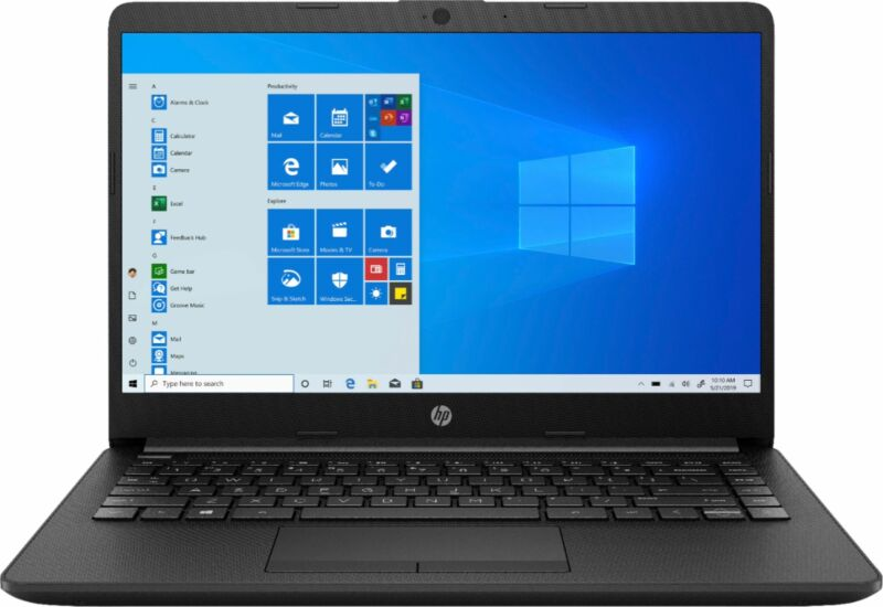 "HP - 14"" Laptop - AMD Athlon - 4GB Memory - 128GB SSD - Jet Black"