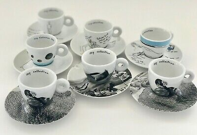 illy art cups, pristine condition, sold only as a group of 7, collectors dream.