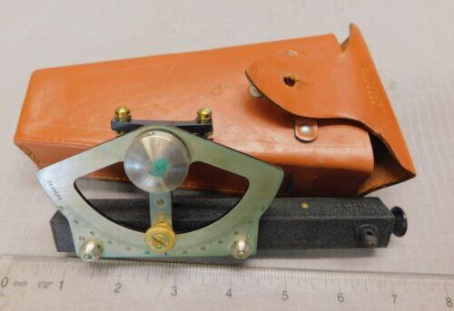 Dietzgen Abney / Hand Level / Grade Finder w/ Protractor & Leather Case