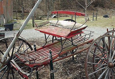 Vintage, Horsedrawn, Carriage, Runabout, Wagon, Buckboard, Buggy