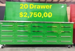 NEW SHIPMENT! 20-40 Drawer HD Tool Cabinets with Bench