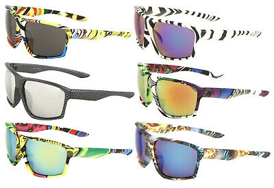 GNARLY SQUARE OVERSIZED ATHLETIC SUNGLASSES SPORT OUTDOOR BEACH MOTROCYCLE (Gnarly Sunglasses)