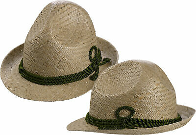 Tiroler Strohhut für Kinder mit grüner Kordel Hut - Kinder Mit Hüten