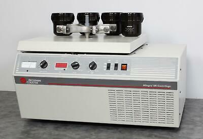 Beckman Coulter Allegra 6r Refrigerated Benchtop Centrifuge With Gh-3.8 Rotor