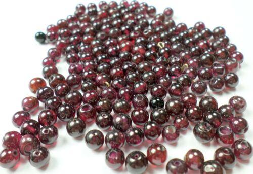 170 Vintage Pretty Deep Red Garnet Gemstone 6mm Round Loose Beads New
