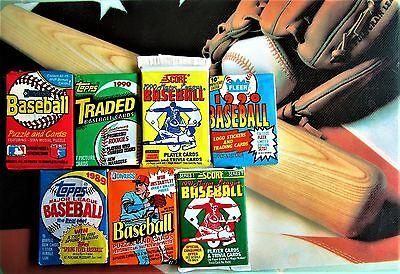 100 Baseball Cards CLOSEOUT Packs Old Vintage LOT Topps Fleer ++ Rookies GIFT ??](Vintage Baseball Gifts)