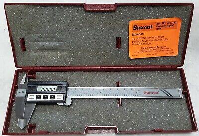 L.s. Starrett Digital Caliper Mic No.721a-6150 New Batteries Works As It Should