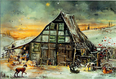 Heilige Nacht. Adventskalender mit 3 Ebenen und mehr als 24 Türchen. Kunstverlag