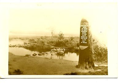 Headwaters Mississippi River Sign Minnesota Rppc Vintage Real Photo Postcard