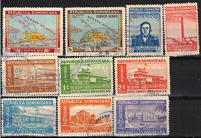 DOMINICAN REPUBLIC Scott 420//457 C62//C76 Used ## 1 cent start ##
