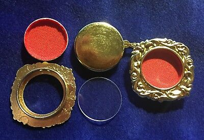 BRAND NEW GOLD AND CRYSTAL RELIQUARY THECA--Guaranteed best on eBay!