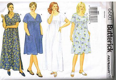 Easy to Sew Pullover Muu Muu Dress Round V Neck Sewing Pattern Plus Sz 28 30 32 - Circular Patterns