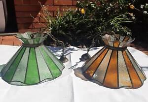 Tiffany style pendant lamps x 2