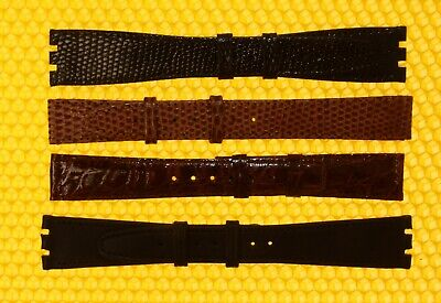 [Lot of 4] Vintage GUCCI 16mm & 20mm Leather Watch Strap Bands SWISS MADE