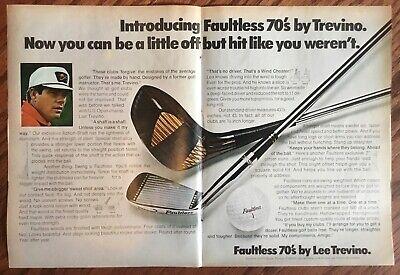Faultless Lee Trevino golf clubs 1970 original vintage ad 1970s retro print
