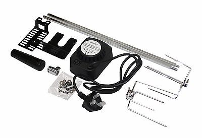 BBQ BARBECUE ROTISSERIE SPIT UNIVERSAL KIT GAS OR CHARCOAL BATTERY OR ELECTRIC ()