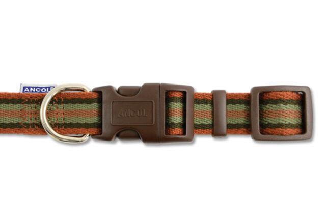 Ancol Adjustable Cotton Stripe Collar Size 2-5, 10-20