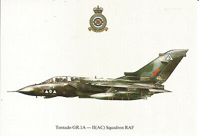 Squadron Prints Tornado GR.1A II (AC) Sqn. RAF, Profile Postcard