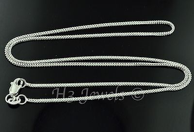 2.50 grams 18k solid white gold franco wheat chain necklace 16 inches #4098 h3 ()