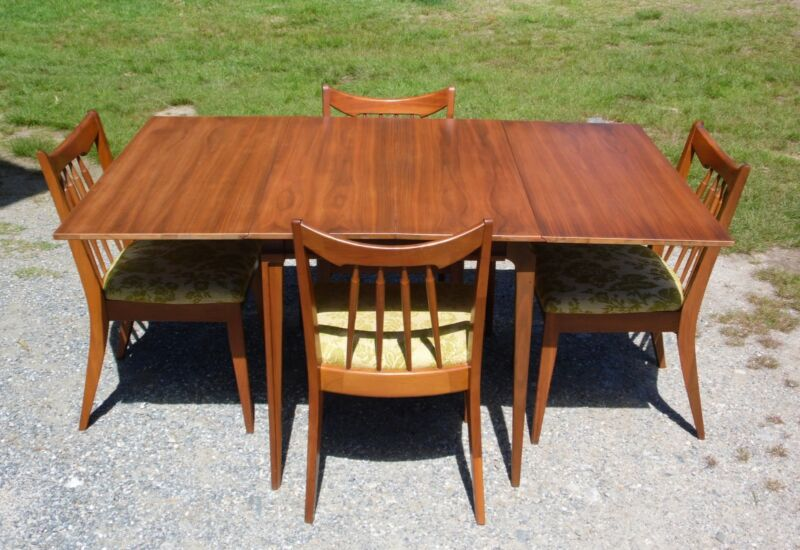 Vintage Mid Century Modern Red Lion Mahogany Dining Set Dining Table & 4 Chairs