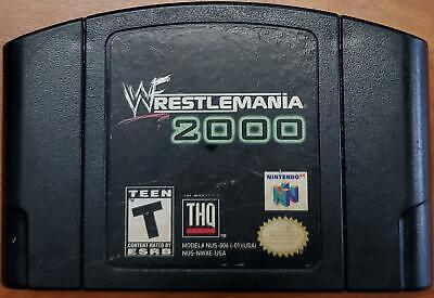 Genuine N64 WWF Wrestlemania 2000