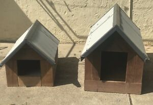 2 solid dog kennels with colorbond roof $50