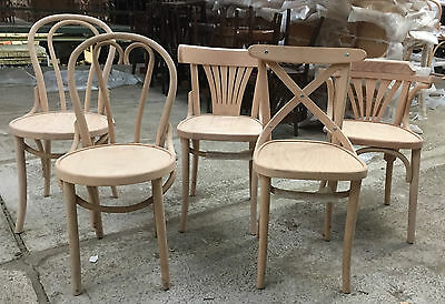 French Bentwood Cafe Chair Restaurant Dining Antique Side Kitchen Bistro Cross