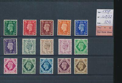 LM41880 Great Britain 1937 George VI fine lot MNH cv 52,5 EUR