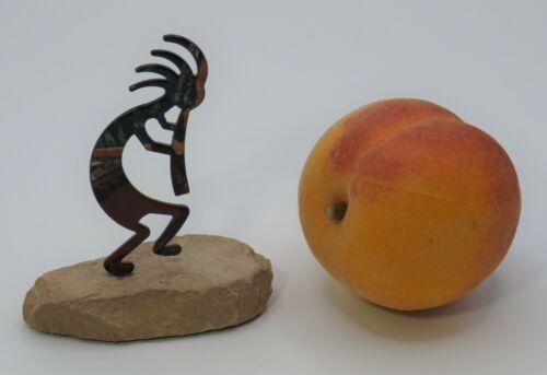 "Lazart ""Dancing Kokopelli"" Figurine * Laser Cut Artwork on Sandstone *Excellent!"