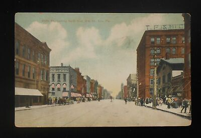 1900s State St. looking North from 10th St. Wagons Stores Erie PA (Erie Pa Stores)