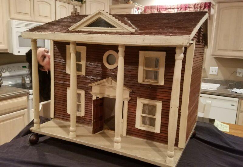 Antique Large Doll House Mansion Handmade Miniature NICE Vintage
