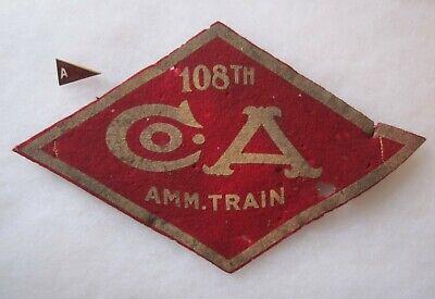 WWI Era- 20's 108th Ammo Train Armband & Pin.](20s Era)
