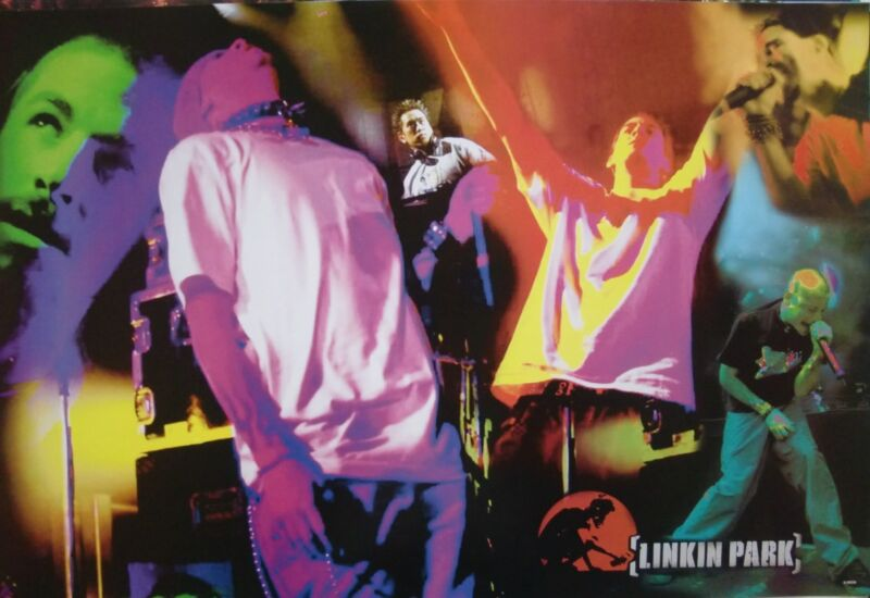 """LINKIN PARK """"COLORFUL COLLAGE OF BAND IN CONCERT"""" ASIAN MUSIC POSTER"""