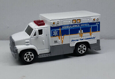 Matchbox Ambulance DEPT. OF HEALTH SERVICES w/hitch 2005 /Thailand / LOOSE