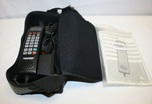 Vintage Motorola Carry Phone in Bag – With Instruction Manual