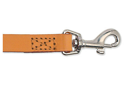 Ancol Heritage Sewn Leather Dog Lead Tan 12mmx1m Durable Traditional Puppy Tough