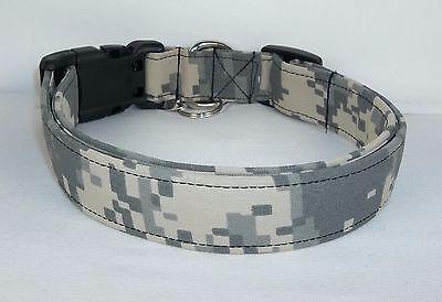 Authentic Army Digital Camo Military fabric Dog Collar custo