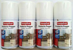 Flohbombe Beaphar Protecto Fogger Sparpaket 4x75ml Insekten Vernebler Ungeziefer