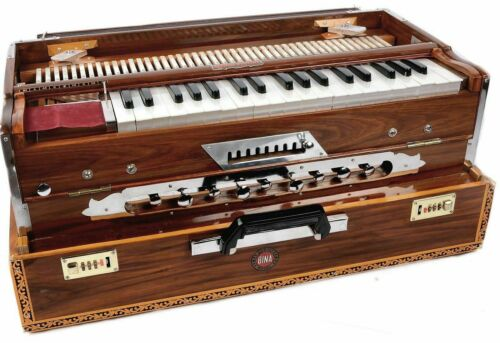 Handmade Portable 3.5 Octave 9 Stopper Laying Style Harmonium Baja With Coupler