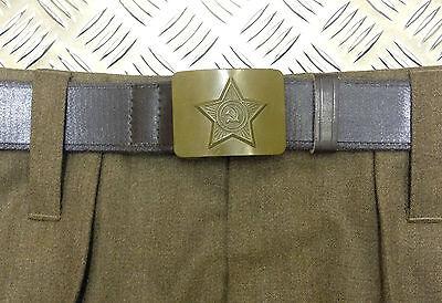 Genuino Ruso / Urss / Soviético / Cccp Army Cinturón Con Martillo...