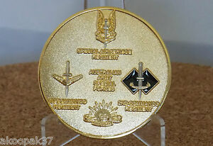 AUSTRALIAN SPECIAL FORCES MEDALLION SASR 1 CDO 2 CDO DIAMETER 45MM WIDE