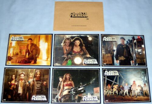 GRiNDHOUSE PLANET TERROR Robert Rodriguez Rose McGowan  6 FRENCH LOBBY CARDs