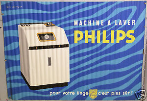affiche ancienne guy georget machine a laver philips washing machine ebay. Black Bedroom Furniture Sets. Home Design Ideas