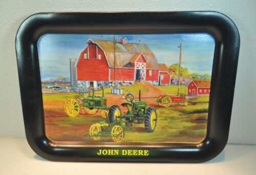 John Deere SPRING PLANTING Tractor Tin Serving Tray 2003