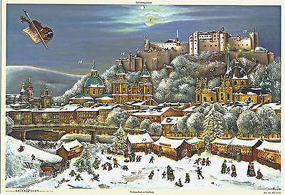 Adventskalender Weihnachten in Salzburg Kunstverlag Brück & Sohn Meissen