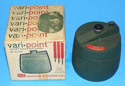 Vintage Boxed K&E Keuffel & Esser Vari-Point Pencil Lead Sharpener Drafting Tool