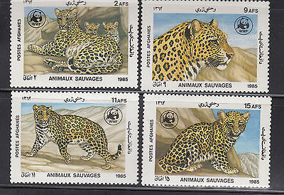 Afghanistan 1985 Leopard Sc 1172-1175 Cplte Mint Never Hinged
