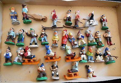 Zwerg Zwerge Masse Massefigur Figur Figuren 31 STÜCK Erzgebirge ALT 4-6 cm