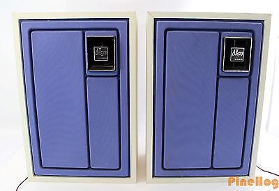 Vintage Zenith Allegro Retro Pair Of Speakers White Blue Model E586